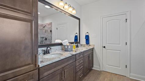 Cypress Park Model Home Master Bathroom - Belle Chasse - DSLD Homes