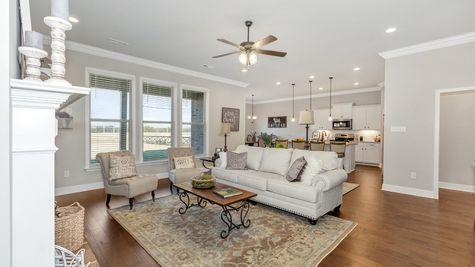 Parkside - Colebrook II A - DSLD Homes - Meridianville, AL - Model Home Living Room