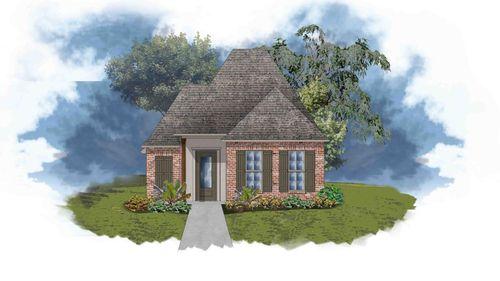 Toledo III B - Front Elevation - DSLD Homes