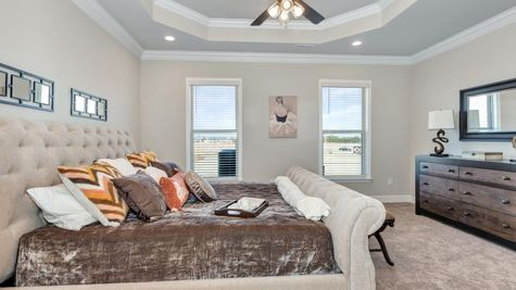 Parkside - Colebrook II A - DSLD Homes - Meridianville, AL - Model Home Master Bedroom