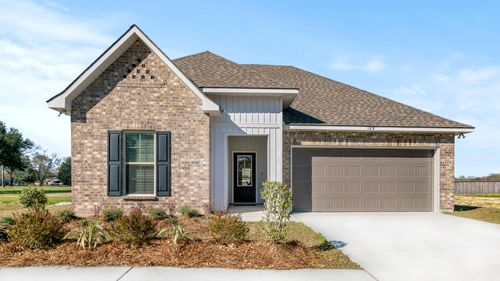 DSLD Homes - Troy III G Open Floorplan Front Elevation Image - Highland Trace - Prairieville, LA