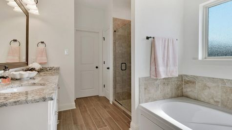 The Reserve at Conway Model Home Pictures- Master bathroom suite