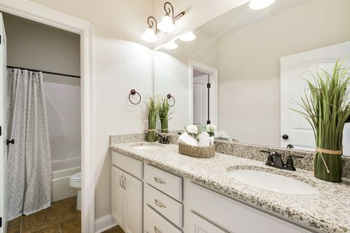 Hawthorne Grove - Model Home Master Bathroom - DSLD Homes - Renoir III A - Pensacola, FL