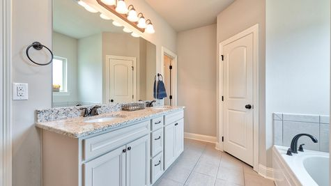 Master Bathroom Vanity and Bath - Lucien  Estates - DSLD Homes Shreveport