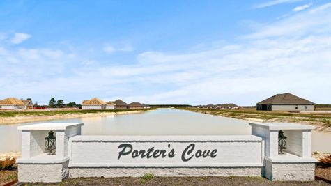 Porter's Cove Community Monument - DSLD Homes - Lake Charles, LA