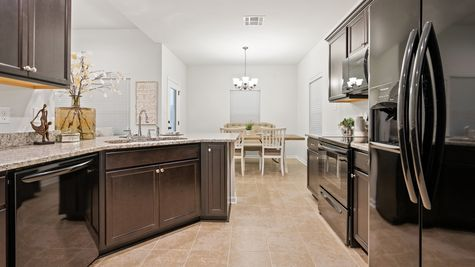 Olde Towne Model Home Kitchen - Olde Towne Community - DSLD Homes Thibodaux