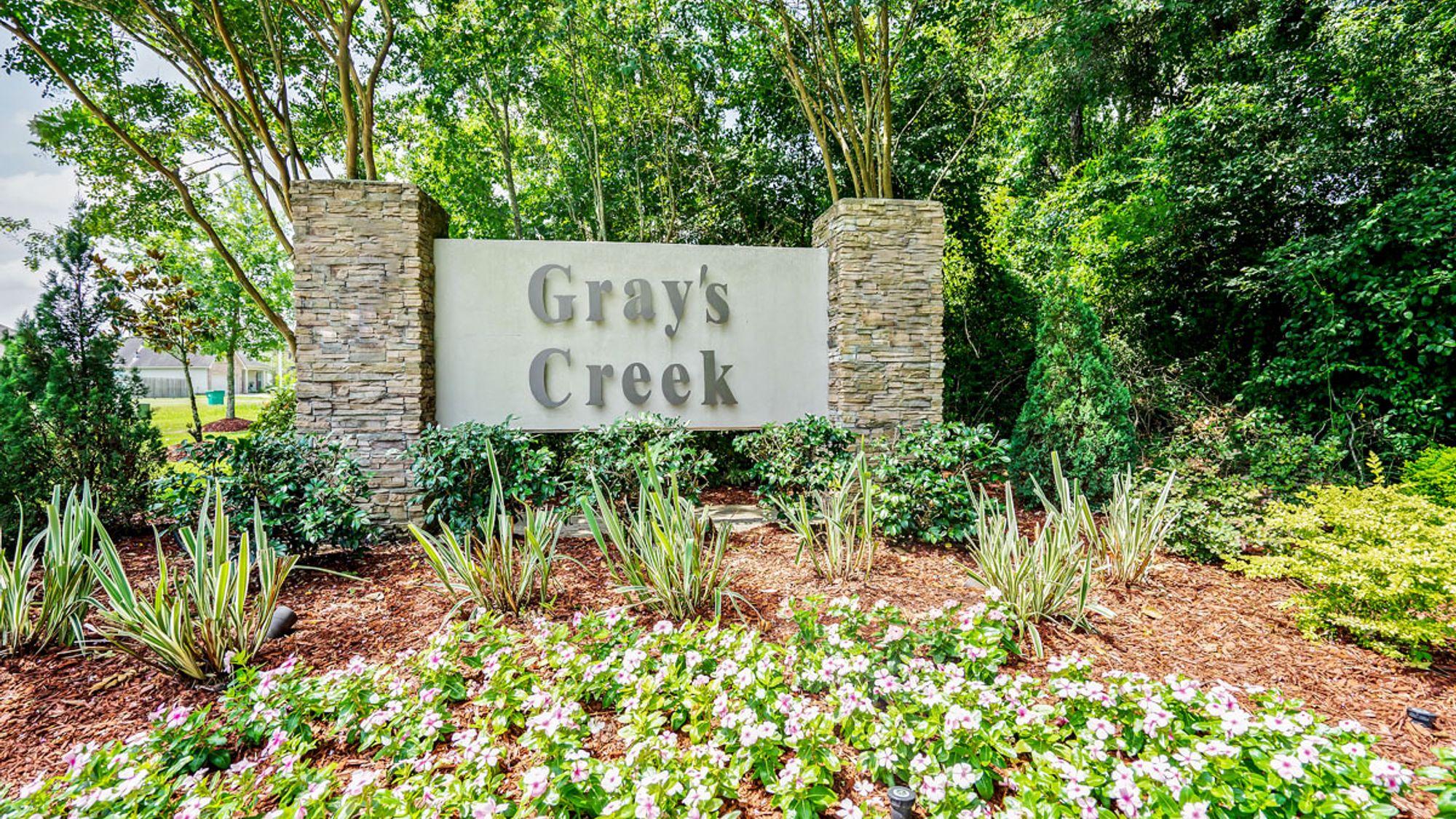 Gray's Creek Monument Community Entrance Sign - DSLD Homes - Denham Springs