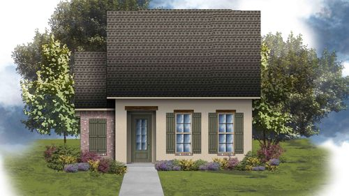 Toledo III A - Front Elevation - DSLD Homes