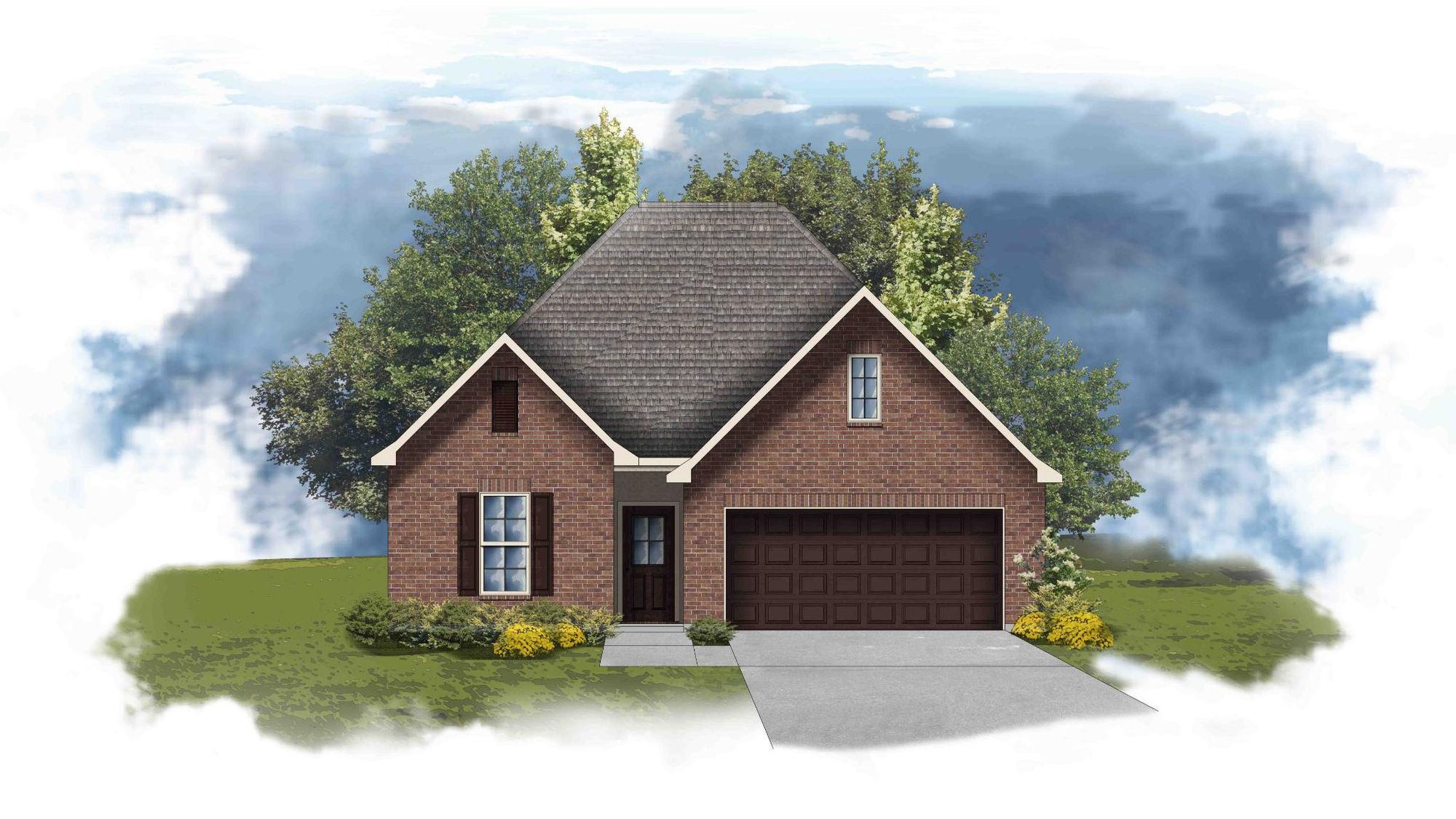 Fuschia II A - Front Elevation - DSLD Homes
