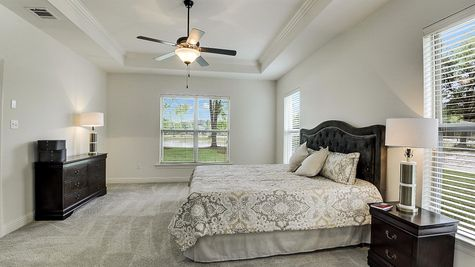 Master Suite with Decor - Spring Lakes- DSLD Homes Covington