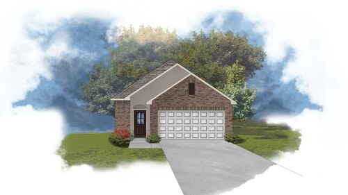 Lewis II A Floorplan Exterior Elevation Image - Open Floor Plan - DSLD Homes