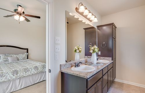 Victoria Meadows - Model Home Master Bathroom - DSLD Homes - Ramsey IV A - Bossier City, LA
