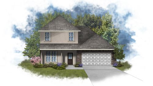 Willowbrook III B - Front Elevation - Open Floor Plan