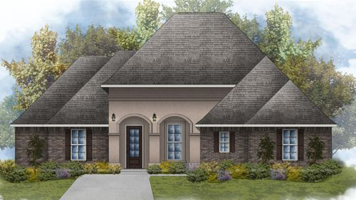 Dubois IV A - Front Elevation - DSLD Homes