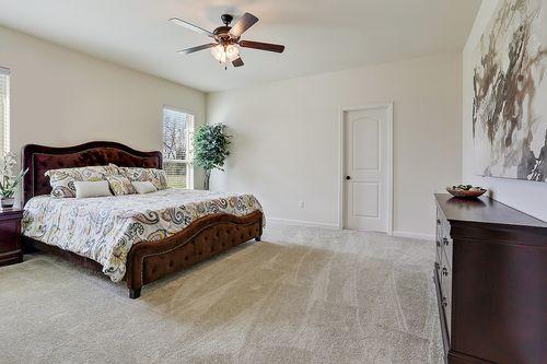 Evangeline Grove - Model Home Master Bedroom - DSLD Homes - Ripley II A - Lafayette, LA