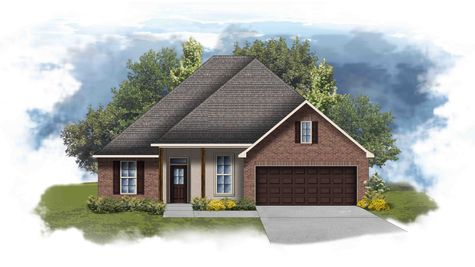 Hickory II B - Front Elevation - DSLD Homes