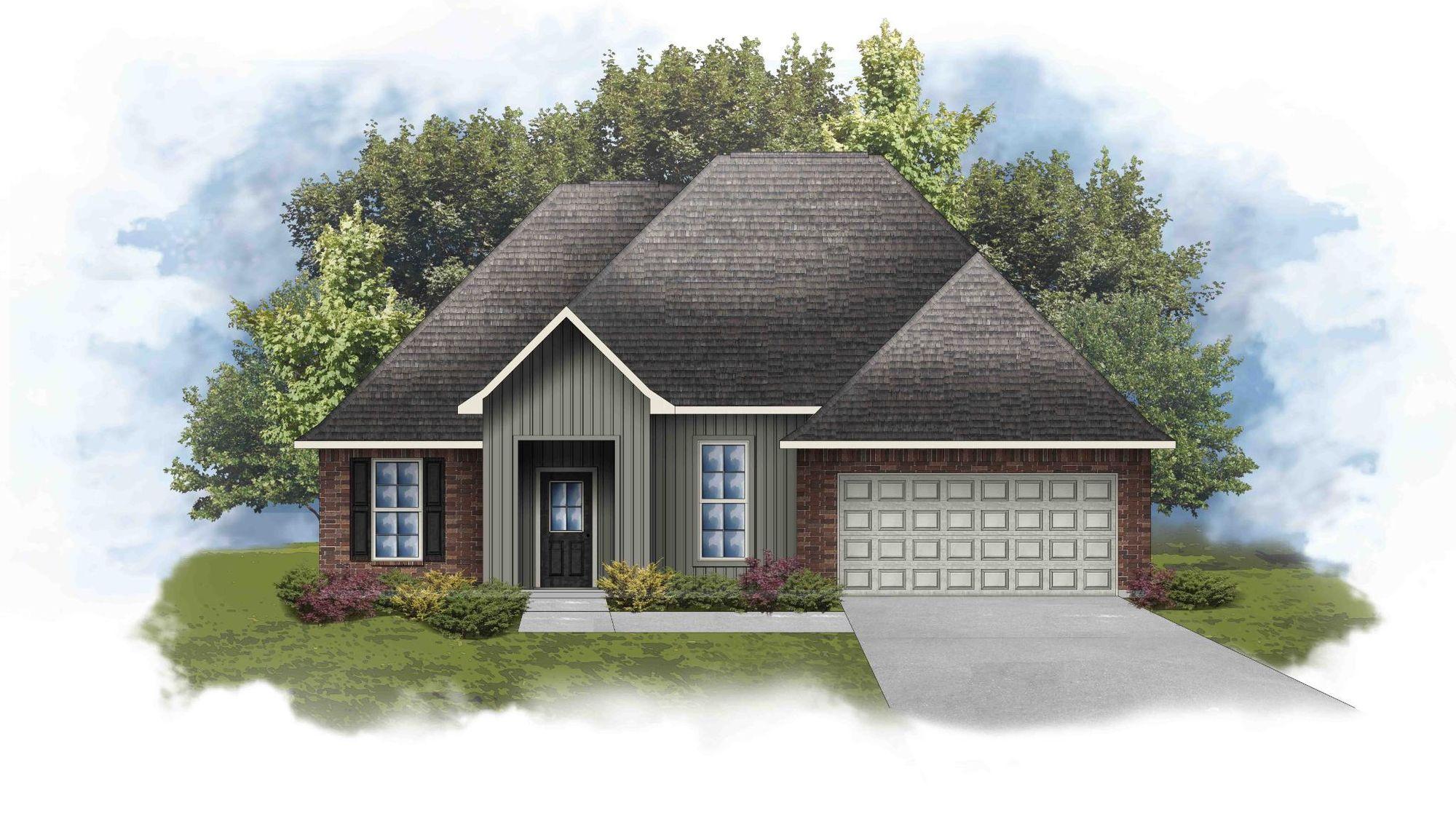 Rowland IV I - Front Elevation - DSLD Homes