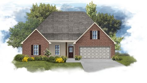 Cognac IV B - Front Elevation - DSLD Homes