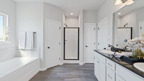 Acadian Meadows Model Master Bathroom - DSLD Homes - Lafayette, LA