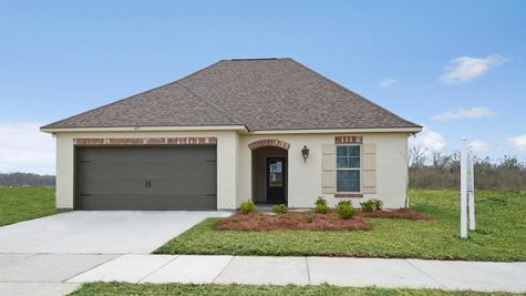 Front of Model Home - Silver Oaks - DSLD Homes Prairieville