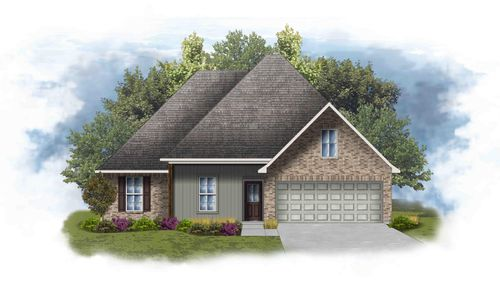 Roxboro IV H - Front Elevation - DSLD Homes