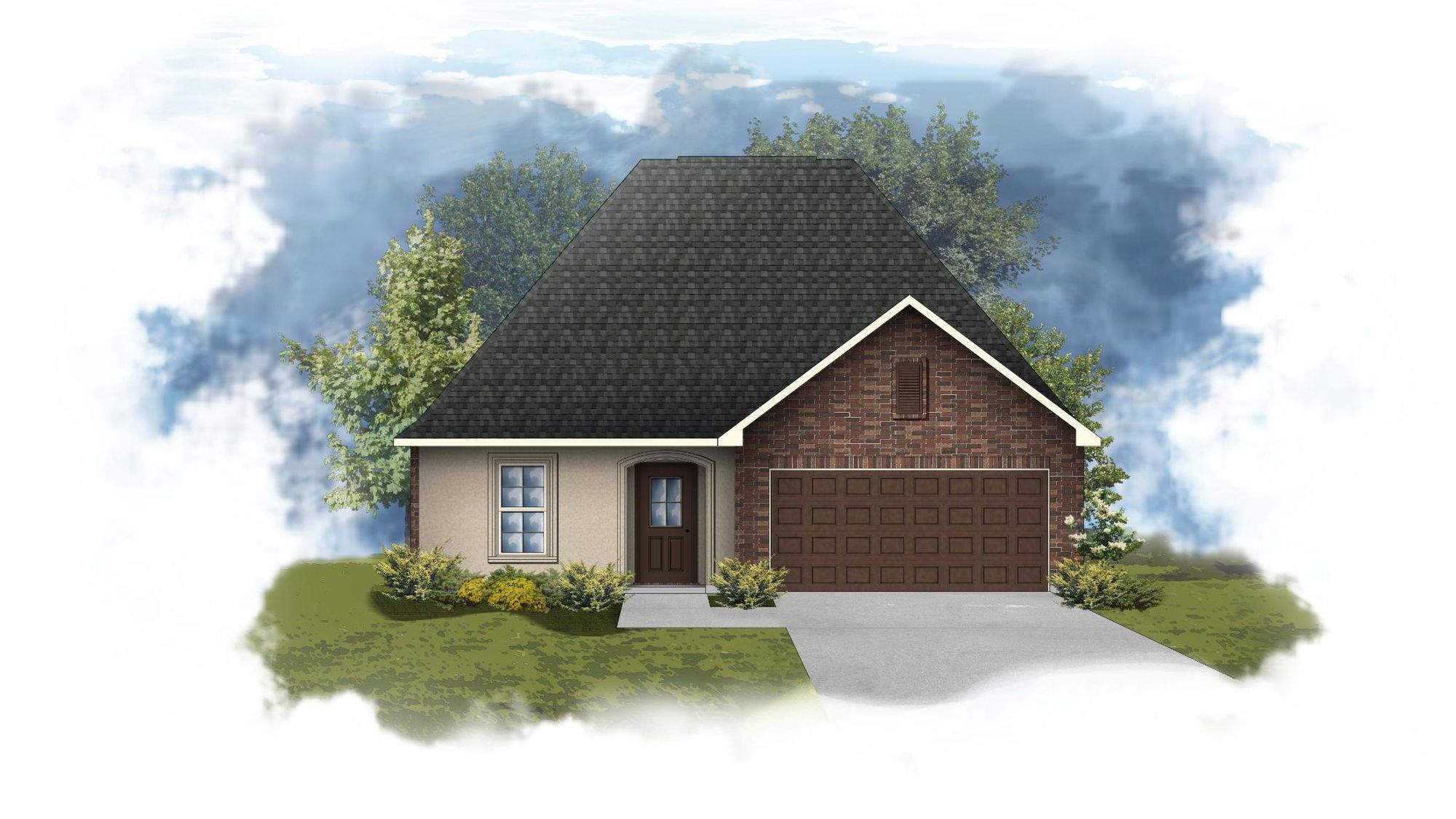 Nolana III A - Front Elevation - DSLD Homes