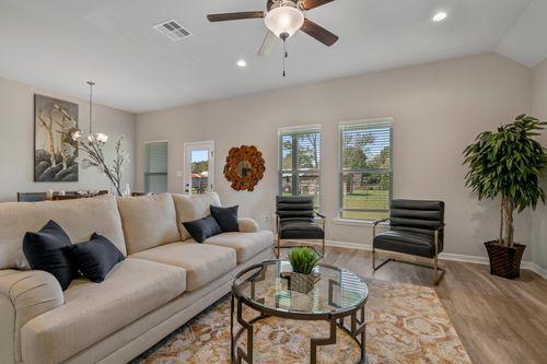 Cambre Oaks - DSLD Homes - Model Home Living Room - Gonzales, LA - Liberty IV H