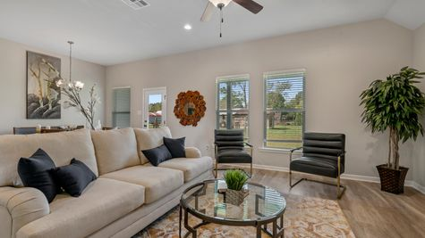 DSLD Homes - Liberty IV H - Cambre Oaks - Gonzales, LA - Model Home Living Room