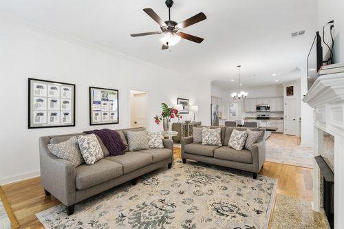 Sugar Ridge - Model Home Living Room - DSLD Homes - Fuschia II A - Youngsville, LA