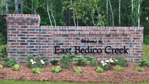 East Bedico Creek Monument Community Entrance - DSLD Homes - Hammond