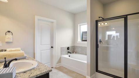 Arbor Walk Master Bathroom - DSLD New Construction Homes - Denham Springs, LA