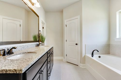 Castine Pointe - Model Home Master Bathroom - DSLD Homes - Rose IV A - Long Beach, MS