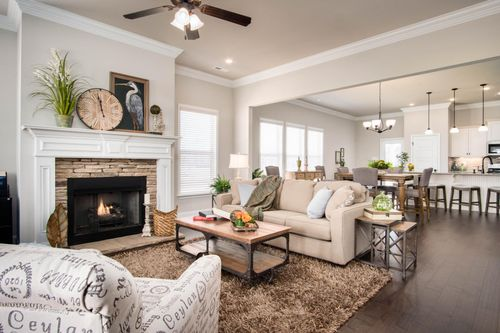 The Hamptons at Piney Creek - Model Home Living Room - DSLD Homes - Madison, MS