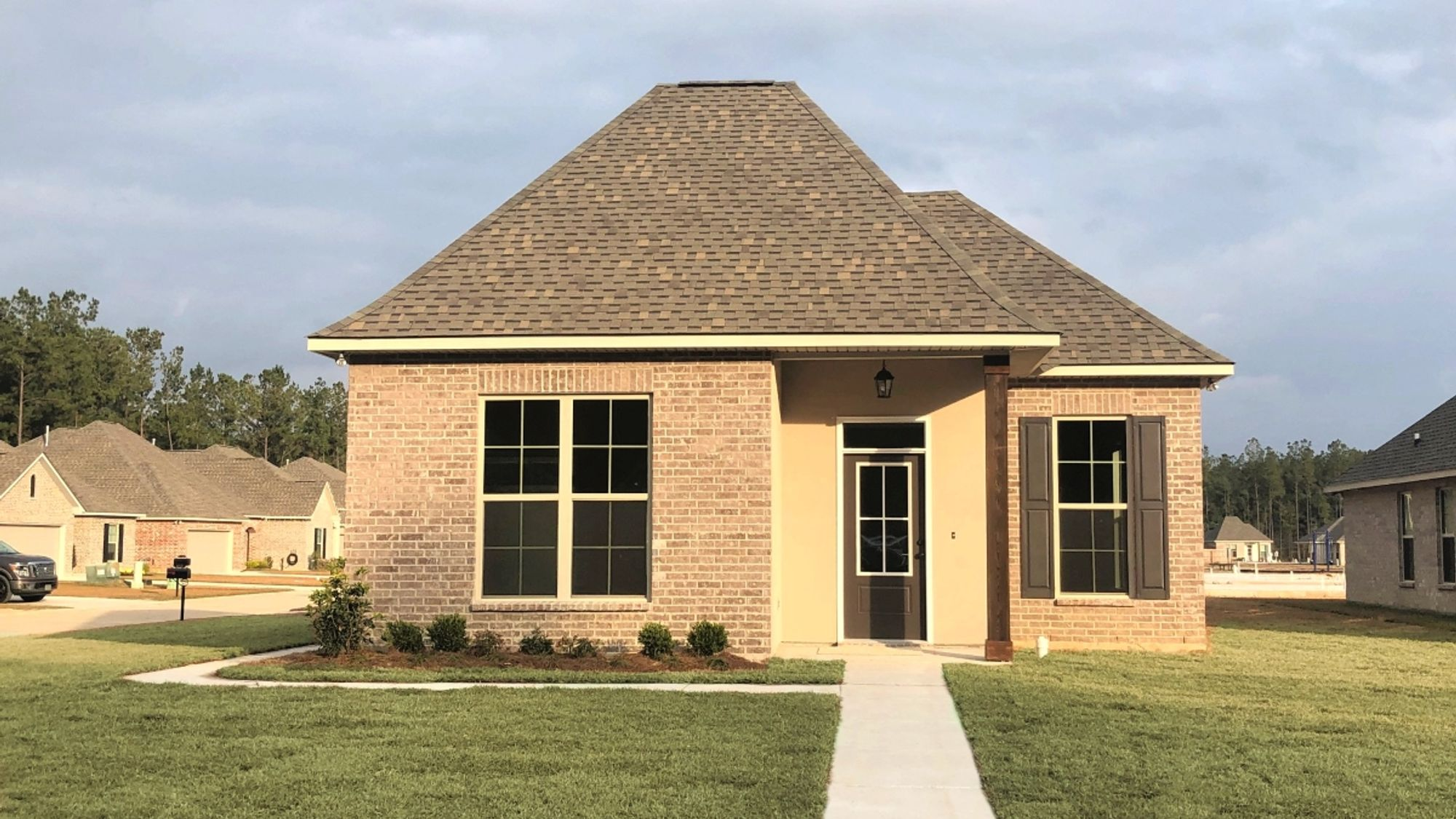 Front View - Greys II A - Goodbee Square Community - DSLD Homes - Covington