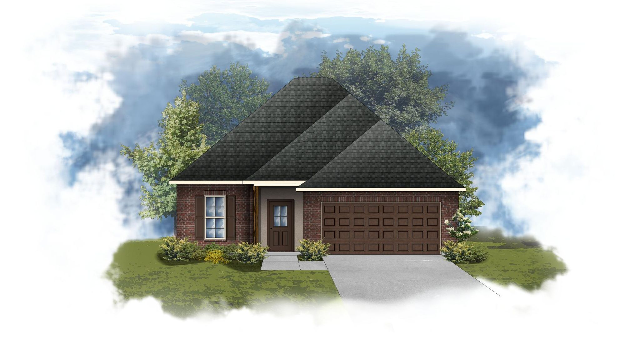 Dogwood III B - Front Elevation - DSLD Homes