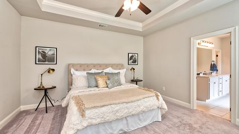 Master Suite with Decor - Lucien  Estates - DSLD Homes Shreveport