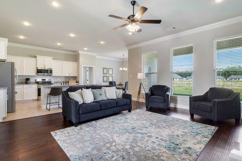 Nickens Lake - Model Home Living Room - DSLD Homes - Ketty II B - Denham Springs, LA