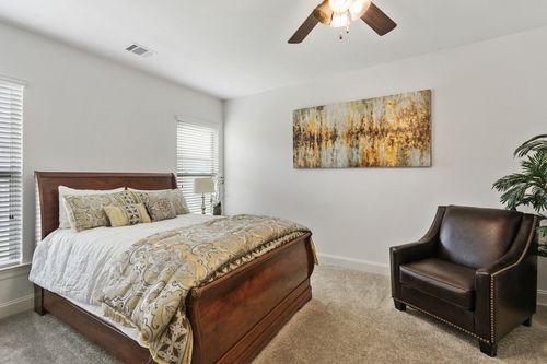 Sugar Ridge - Model Home Master Bedroom - DSLD Homes - Fuschia II A - Youngsville, LA
