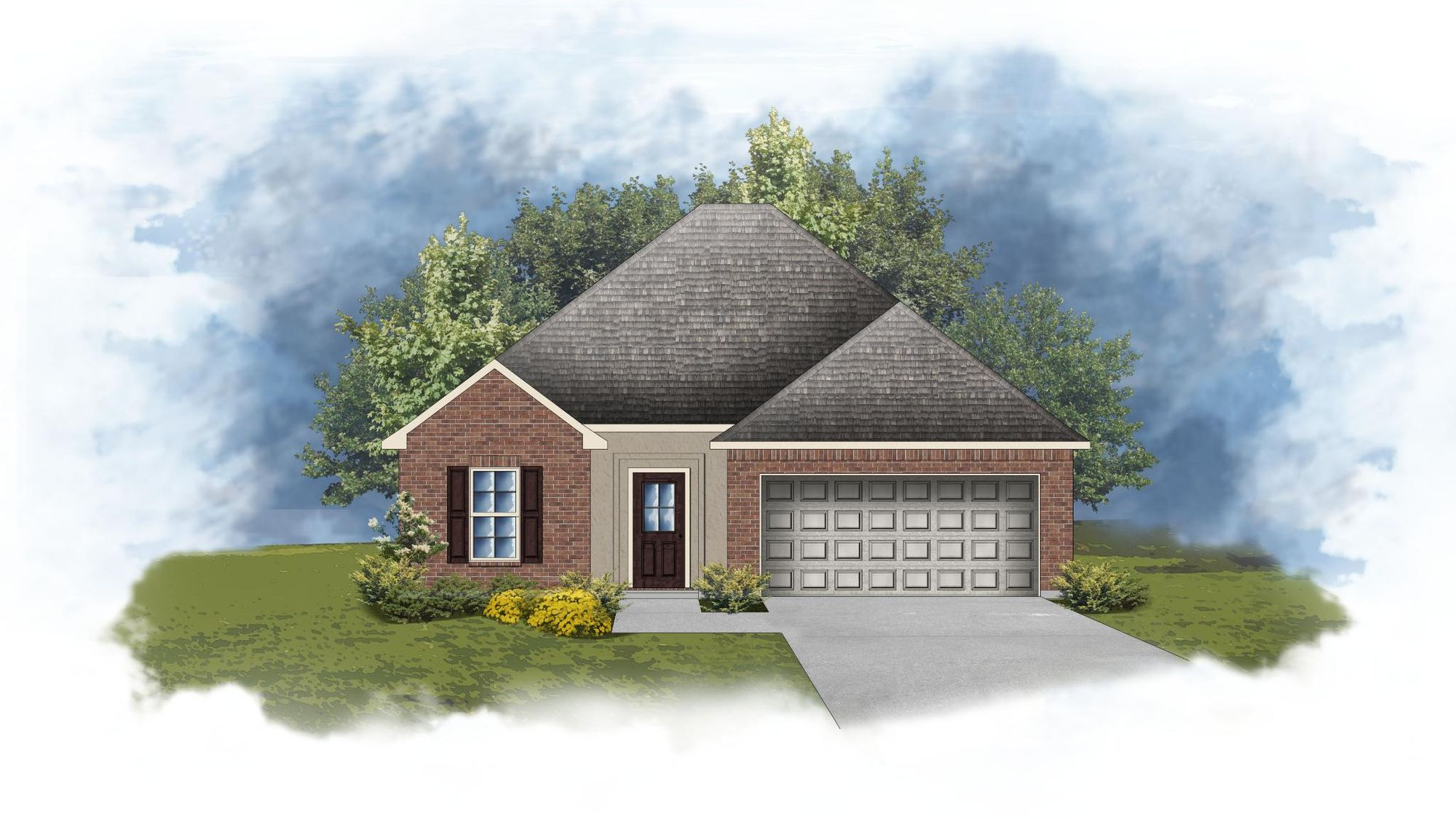 Wimbledon III A - Front Elevation - DSLD Homes