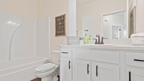 Cottages at Savannah Row- Model Home Bathroom - DSLD Homes - Ripley IV A - Prairieville, LA