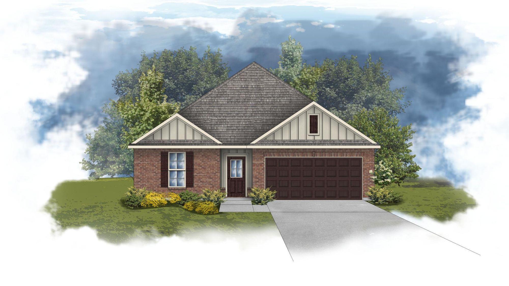 Crescent II H - Front elevation - open floor plan