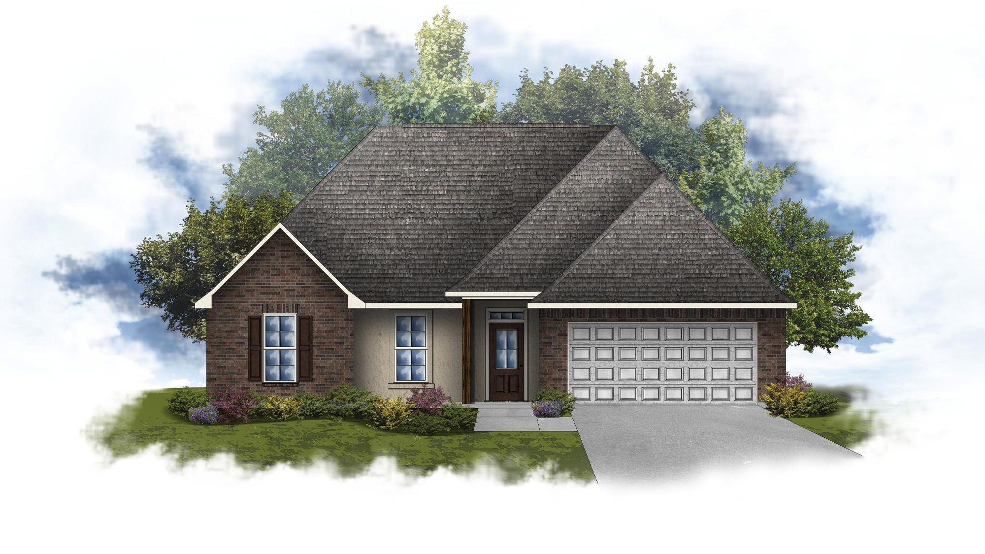 Lily IV A Open Floorplan Elevation Image - DSLD Homes