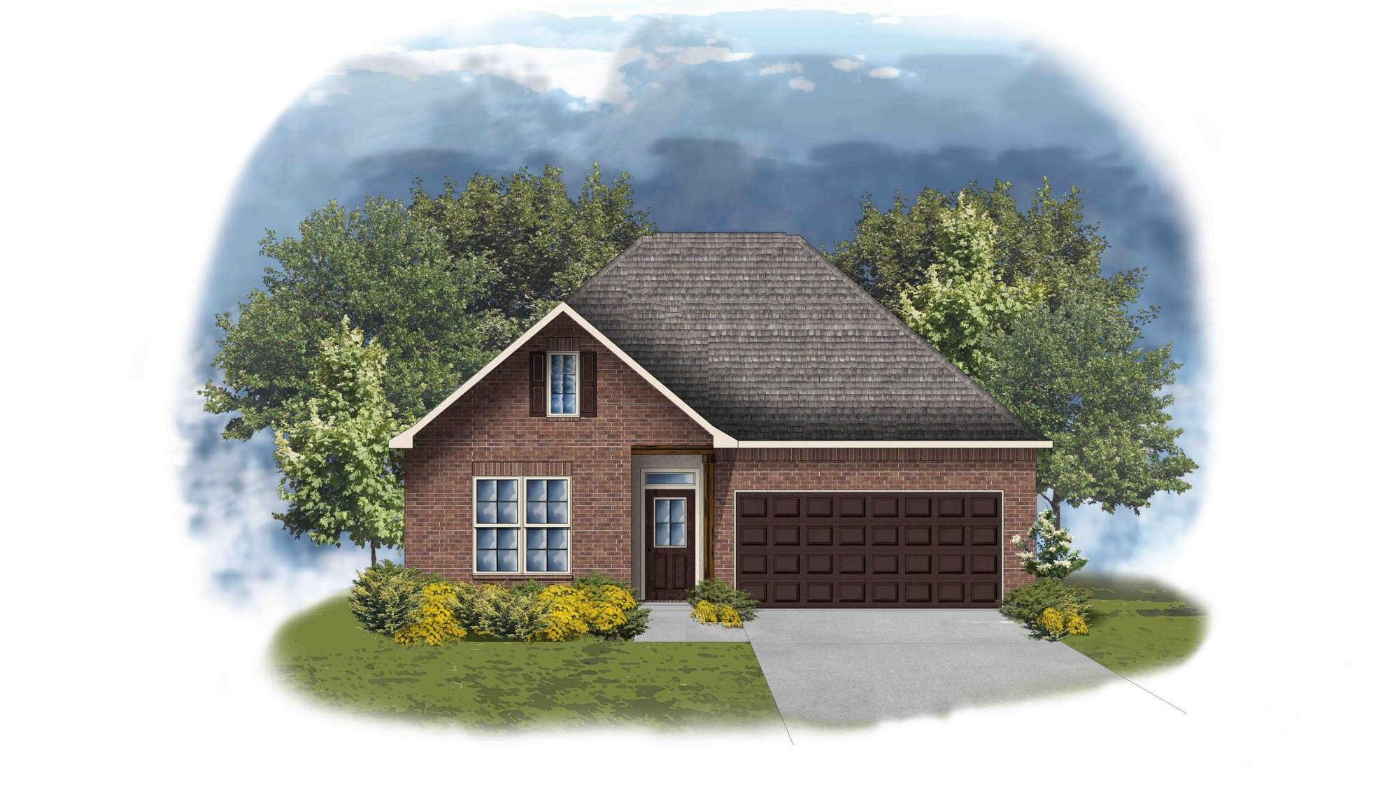 Yucca II A - Front Elevation - DSLD Homes