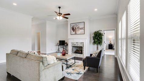Living Room Decor - Ashton Parc - DSLD Homes Slidell