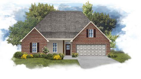 Camellia IV B Open Floorplan Elevation - DSLD Homes