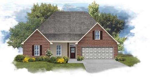 Camellia IV B Open Floorplan Elevation - DSLD Homes