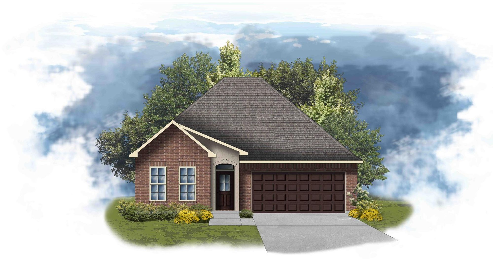 Orchid II B - Front Elevation - DSLD Homes