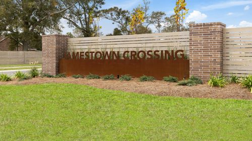 Jamestown Crossing - Domenico II A Plan - Prairieville, LA - DSLD Homes - Community Entrance Sign