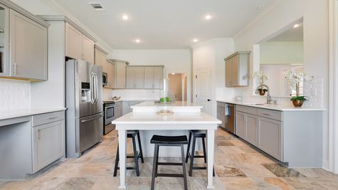 Kitchen in Model Home - DSLD Homes - Paige Place in Broussard
