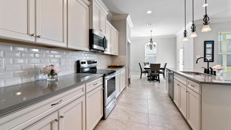 Model Home Kitchen - DSLD Homes in Lake Charles - The Cove at Morganfield